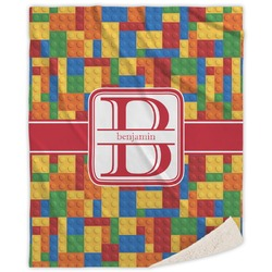 Building Blocks Sherpa Throw Blanket (Personalized)