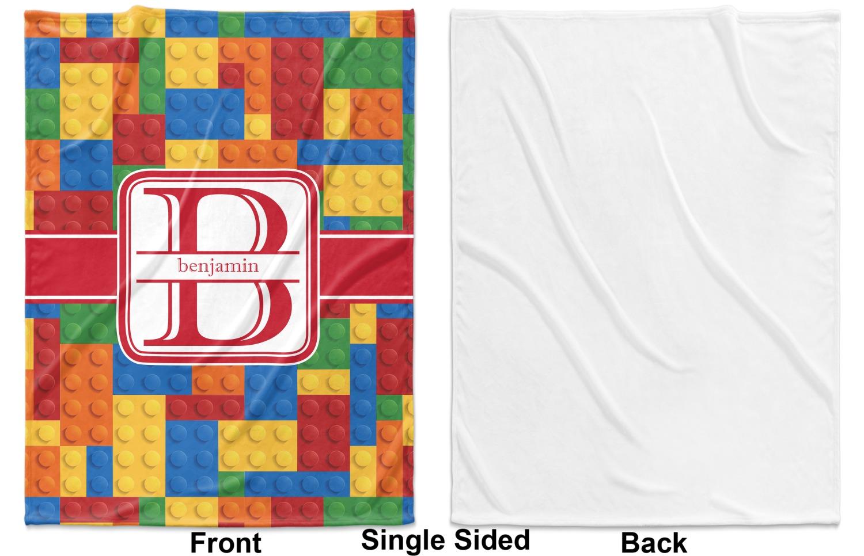 Building blocks fleece blanket toddler throw quot x
