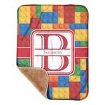 "Building Blocks Sherpa Baby Blanket 30"" x 40"" (Personalized)"