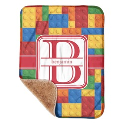 "Building Blocks Sherpa Baby Blanket 30"" x 40"" (Personalized)"