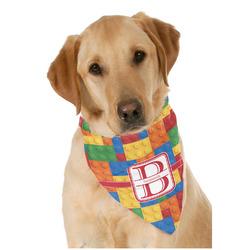 Building Blocks Dog Bandana Scarf w/ Name and Initial