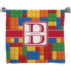 Building Blocks Full Print Bath Towel (Personalized)