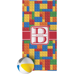 Building Blocks Beach Towel (Personalized)
