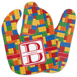 Building Blocks Baby Bib w/ Name and Initial