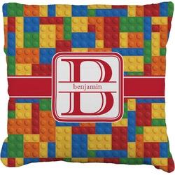 Building Blocks Faux-Linen Throw Pillow (Personalized)