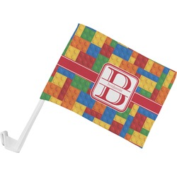 Building Blocks Car Flag (Personalized)