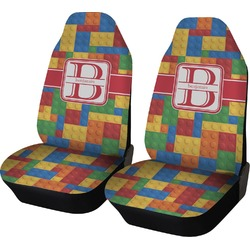 Building Blocks Car Seat Covers (Set of Two) (Personalized)
