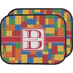 Building Blocks Car Floor Mats (Back Seat) (Personalized)