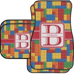 Building Blocks Car Floor Mats Set - 2 Front & 2 Back (Personalized)
