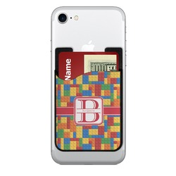 Building Blocks 2-in-1 Cell Phone Credit Card Holder & Screen Cleaner (Personalized)