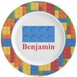 Building Blocks Ceramic Dinner Plates (Set of 4) (Personalized)