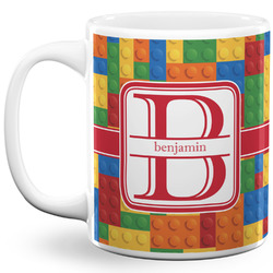 Building Blocks 11 Oz Coffee Mug - White (Personalized)