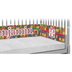Building Blocks Crib Bumper Pads (Personalized)