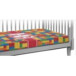 Building Blocks Crib Fitted Sheet (Personalized)