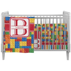 Building Blocks Crib Comforter / Quilt (Personalized)