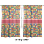 "Building Blocks Curtains - 20""x63"" Panels - Lined (2 Panels Per Set) (Personalized)"