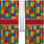 Building Blocks Curtains (2 Panels Per Set) (Personalized)