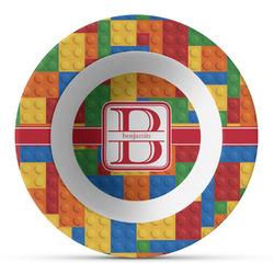 Building Blocks Plastic Bowl - Microwave Safe - Composite Polymer (Personalized)
