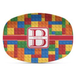 Building Blocks Plastic Platter - Microwave & Oven Safe Composite Polymer (Personalized)