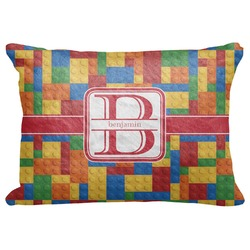 "Building Blocks Decorative Baby Pillowcase - 16""x12"" (Personalized)"