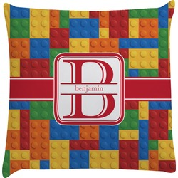 Building Blocks Decorative Pillow Case (Personalized)