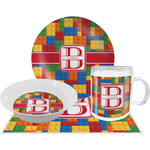 Building Blocks Dinner Set - 4 Pc (Personalized)