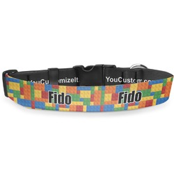 "Building Blocks Deluxe Dog Collar - Large (13"" to 21"") (Personalized)"