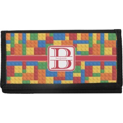 Building Blocks Canvas Checkbook Cover (Personalized)
