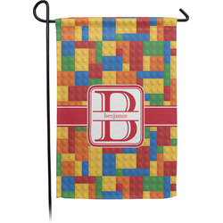 Building Blocks Garden Flag - Single or Double Sided (Personalized)