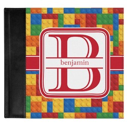 Building Blocks Genuine Leather Baby Memory Book (Personalized)