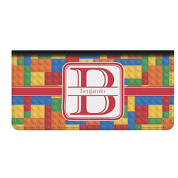 Building Blocks Genuine Leather Checkbook Cover (Personalized)