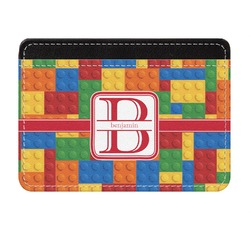 Building Blocks Genuine Leather Front Pocket Wallet (Personalized)