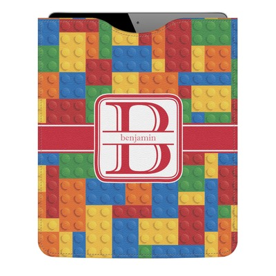 Building Blocks Genuine Leather iPad Sleeve (Personalized)