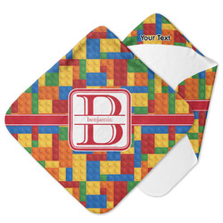 Building Blocks Hooded Baby Towel (Personalized)