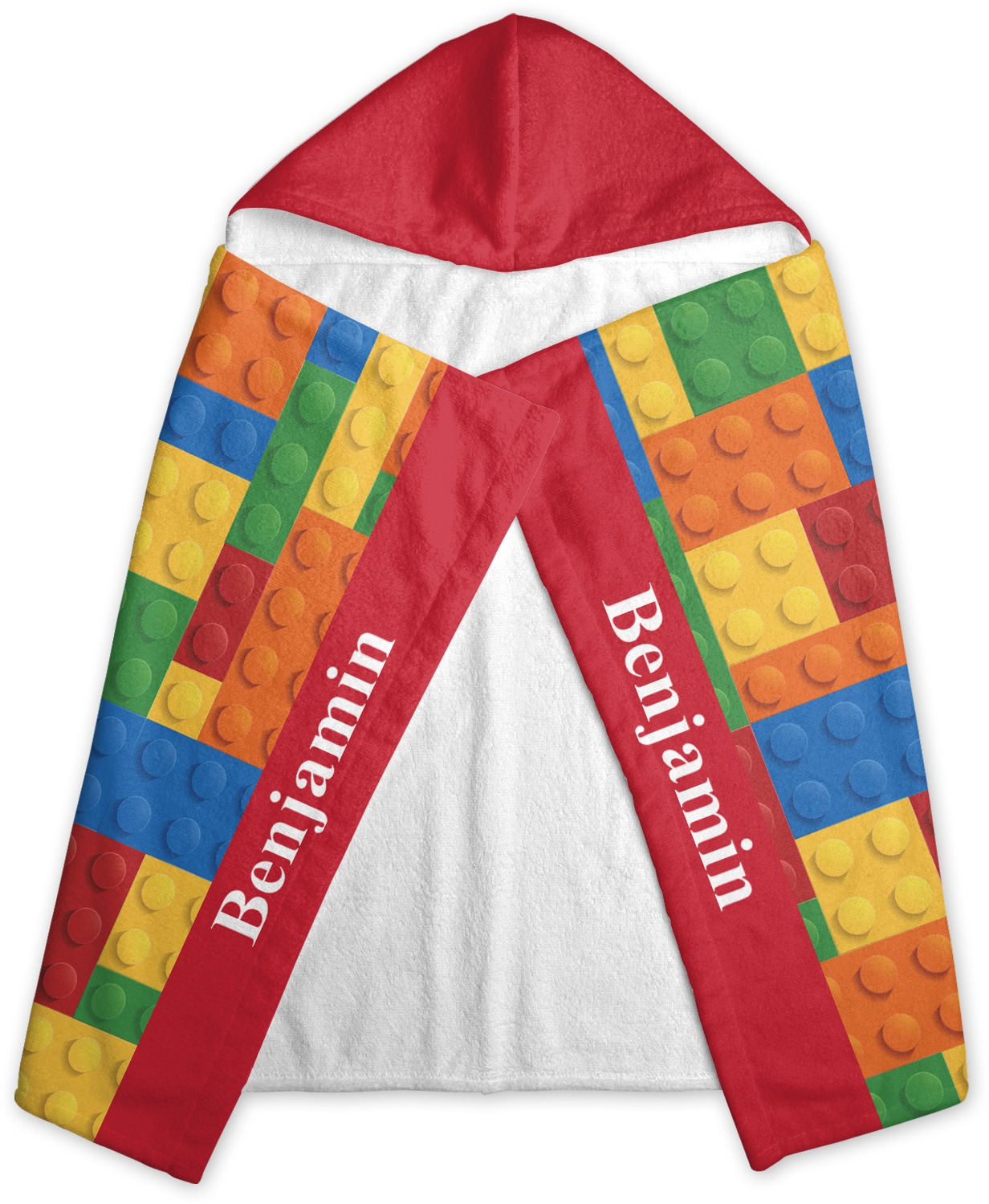 Building Blocks Hooded Towel Personalized Youcustomizeit