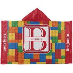 Building Blocks Kids Hooded Towel (Personalized)