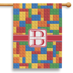 """Building Blocks 28"""" House Flag (Personalized)"""
