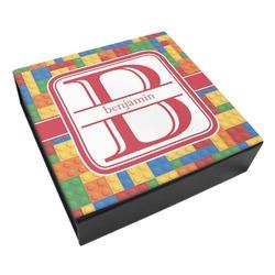 Building Blocks Leatherette Keepsake Box - 3 Sizes (Personalized)