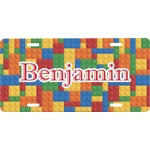 Building Blocks Front License Plate (Personalized)