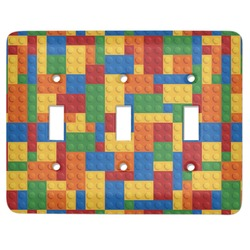 Building Blocks Light Switch Cover (3 Toggle Plate) (Personalized)