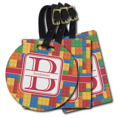 Building Blocks Plastic Luggage Tags (Personalized)