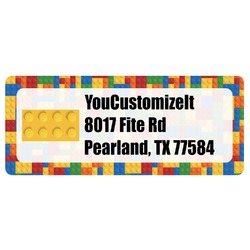 Building Blocks Return Address Labels (Personalized)