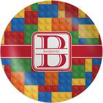 Building Blocks Melamine Plate (Personalized)