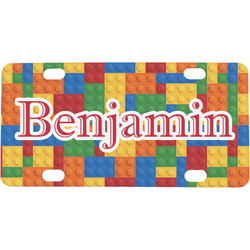 Building Blocks Mini / Bicycle License Plate (4 Holes) (Personalized)