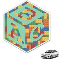 Building Blocks Monogram Car Decal (Personalized)