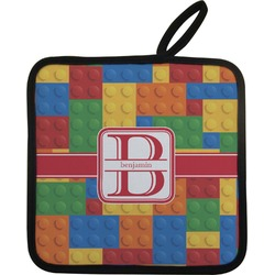 Building Blocks Pot Holder w/ Name and Initial