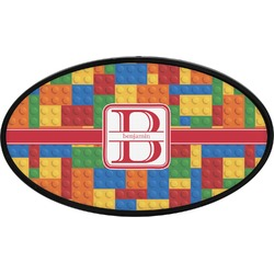 Building Blocks Oval Trailer Hitch Cover (Personalized)