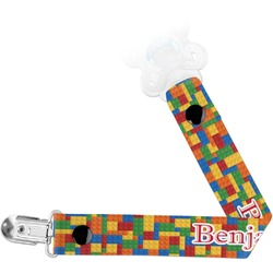 Building Blocks Pacifier Clips (Personalized)