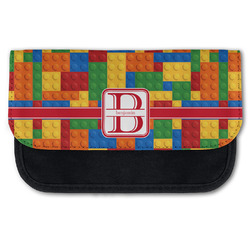 Building Blocks Canvas Pencil Case w/ Name and Initial