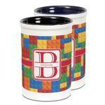 Building Blocks Ceramic Pencil Holder - Large